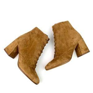 VINCE Halle Suede Lace Up Boots